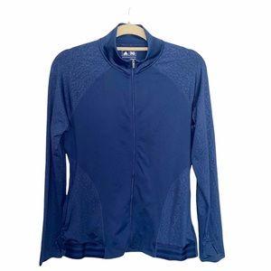 Adidas Golf Rangewear Blue Full Zip Jacket Medium